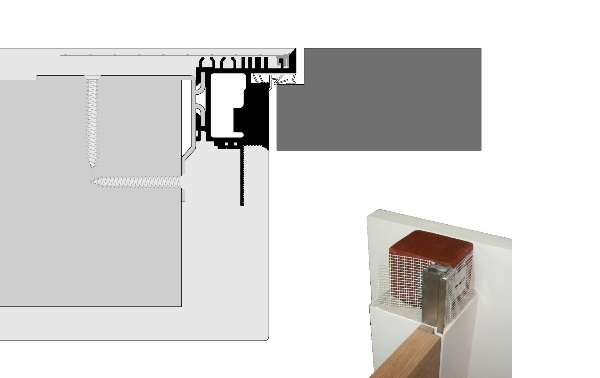 Frameless Ags Systems Flush Doors And Skirting Boards